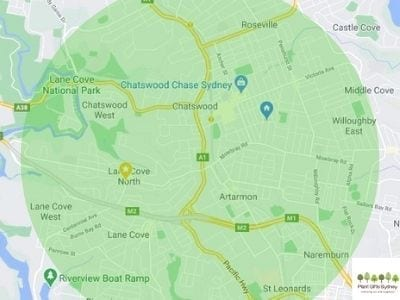 Free Delivery Map Plant Gifts Sydney